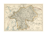 Map of Westmorland  England  1870s