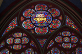 Stained-Glass Windows of Notre-Dame Cathedral  Begun in 1163  Paris  France