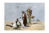 Arab Slave Trader Shooting An Exhausted Slave in the African Desert