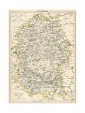 Map of Wiltshire  England  1870s