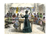 "Teaching Objects to Children in a ""colored School "" New York City  1870"