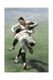 Low Tackle: Yale Football Team in a Practice Game  1880s