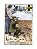 "Ad for Visiting the Grand Canyon Aboard the ""California Limited "" Santa Fe RR  1908"