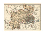 Map of Middlesex  England  1870s