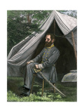 Confederate General Thomas J (Stonewall) Jackson at His Field Headquarters  Civil War