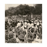 American Marines Entering Tientsin  China  During the Boxer Rebellion  1900