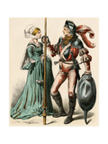 German Woman and a Man Wearing Armor of the Early 1500s