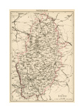 Map of Nottinghamshire  England  1870s