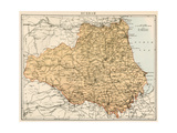 Map of Durham  England  1870s