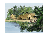 Native Village in Panama at the Time of Balboa's Expedition  Early 1500s