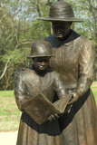 Statue of Freed Slave Woman Teaching Girl to Read at Union Army's Contraband Camp