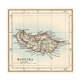 Map of the Island of Madeira  1870s