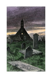 Graveyard of the Old Church in Boyndie Parish  Scotland  1800s
