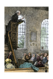 Protestant Minister Delivering a Sunday Sermon  Early 19th Century
