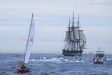 "USS Constitution ""Old Ironsides"" Under Sail  Massachusetts Bay  Celebrating Its Bicentennial  1997"