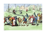 Sufferers From Saint Vitus Dance Making Pilgrimage near Luxembourg in Hope of Cure  1500s