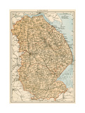Map of Lincolnshire  England  1870s