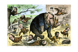 What Is Fun to the Elephant Is Death to the Chickens  a Credit Mobilier Cartoon of 1873