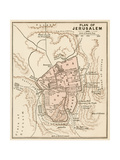 Map of the City of Jerusalem  1870s