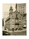 Old State House  the Colonial Capitol  Boston  1890s