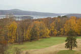 Autumn Color Along the Hudson River  Hyde Park  NY