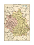 Map of Huntingdonshire and Cambridgeshire  England  1870s