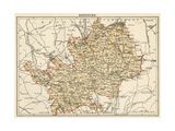 Map of Hertfordshire  England  1870s