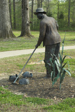 Statue of a Freed Slave Gardening at Union Army's Contraband Camp in Corinth MS  1862-1864