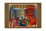 Christine De Pisan Presenting Her Book to Isabel of Bavaria  Queen of Charles VI of France
