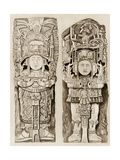 Obelisk Statues From the Mayan Ruins of Copan  Honduras