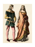 German Knight and a Lady  1300s