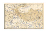 Map of Himalaya Region of Asia  1870s