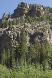 Cliff Along the Trampas Lakes Trail in the Pecos Wilderness  Sangre De Cristo Mountains