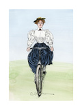 Gibson Girl on a Bicycle  1890s