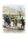 Cyclists on Various Forms of Bicycle in the 1870s