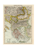 Map of the Balkan Peninsula  1870s