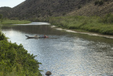 Kayak and Canoe on the Rio Grande near Pilar  New Mexico