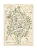 Map of Warwickshire  England  1870s
