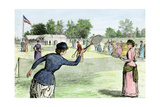 Ladies Lawn Tennis Tournament at the Staten Island Cricket Club  NY  1870s