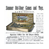 Ad for Lawn Tennis and Croquet Game Set  1880