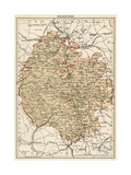 Map of Herefordshire  England  1870s