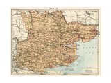 Map of Essex  England  1870s