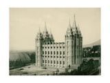 Mormon Temple at Salt Lake City  Circa 1890