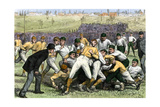 Thankgiving-Day Football Match Between Yale and Princeton  1879