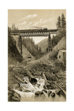 Canadian Pacific Railroad Trestle Over Surprise Creek  British Columbia  1880s