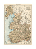 Map of Lancashire  England  1870s