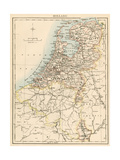 Map of Holland  1870s
