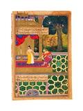 Sita Shies Away From Hanuman  Believing He Is Ravana in Disguise (Miniature From the Ramayana