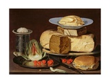 Still Life With Cheeses  Artichoke  And Cherries