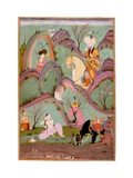 Khusraw Beholding Shirin Bathing (Miniature From the Cycle of Eight Poetic Subjects)